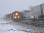 BNSF 7403 FIRST SNOW FOR ME