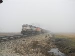 BNSF 9813 FOGGY DAY