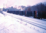 1005-07 Eastbound BN WISX coal train passes Lexington Pkwy bridge on ex-GN