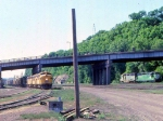 1008-20 C&NW freight entering Belt Yard