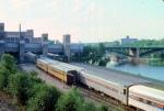 1013-22 Westbound Amtrak North Coast Hiawatha arrives Mpls GN Depot
