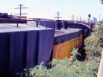 1014-35 C&NW local freight switches Burdick Elevators #1 & 2