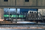 1029-26 Eastbound BN freight passes GN Mpls Depot