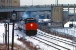 1032-16 Amtrak coach-only Twin City Hiawatha departs Mpls GN Depot