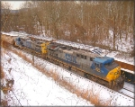 CSX 304 and 7695