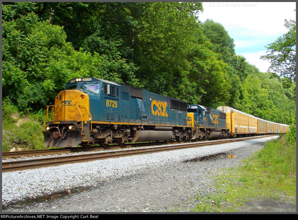 CSX 8725 and 8535