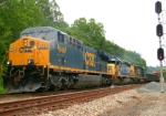 CSX 648, 8114, and 4407