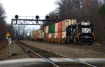 Rear end helpers on stack train