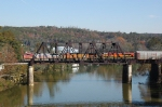 BNSF 649 North crossing Mulberry Fork Bridge