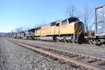 UP 4265 trailing WB at MP 174 on the Pitt Line