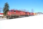 11R Kicking Snow at MP 271 on the Buffalo Line