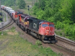 CN 5770, WC 7554 & CN 2588 HAULING A STACK TRAIN