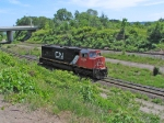 CN 5654 Heading up the Cow Path