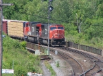 CN 5755 & CN 2580 waiting at mile 0.6 on the Dundas Sub
