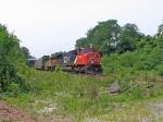 CN 5740 & BNSF 8709 HEADING DOWN  THE DUNDAS SUB