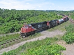 CN 5745 & CN 2525 HEADING DOWN THE COW PATH