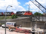 CN 7082 & CN 4109 Crossing Plains Road Bridge, which is under reconstruction