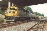 Parked rock train with A-B-B-A SD45-2s