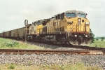 Southbound coal train approaches diamond