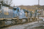CSX with fall flag train