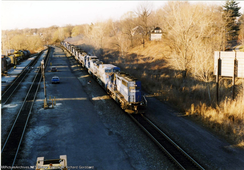 15 Conrail Locomotives on a Light Engine Move