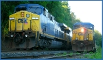 CSX 1 (Spirit of West Viriginia) and CSX 122