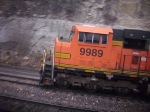 BNSF SD70MAC coming out of Hoffman Yard
