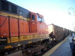 BNSF 5716 is the one of the two helpers for this train