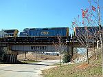 CSX 9993 going over the Wofford Bridge