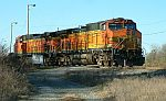 A pair of BNSF units sits in the west yard