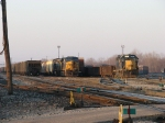 CSX 5476 waits on the point of today's Q334 as 2667 powers Y195