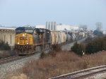 CSX 5227 & 5289 head west with Q335-21