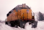 Former MKT GP39-2 Stuck in the Snow