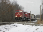 CP potash train leaves INRD yard at Jasonville,IN