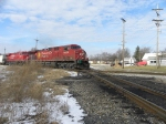 CP potash train crossing diamond NB