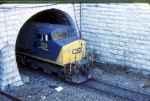 CSX 113 emerging from the Mount Royal Tunnel