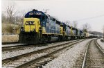 CSX Mixed Frieght holding the main