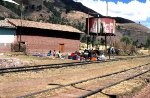 Train in the Peruvian Andes