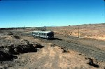 Rail cars in the desert