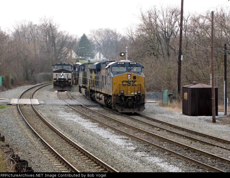 CSX 856 and NS 8907