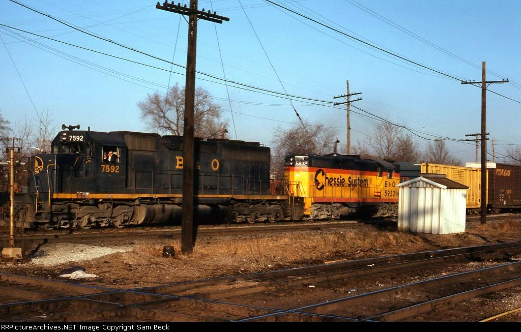 B&O 7592 and 5932