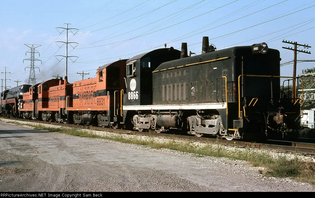 IHB 8866, 8831, 8834, and 8788 with N&W 611