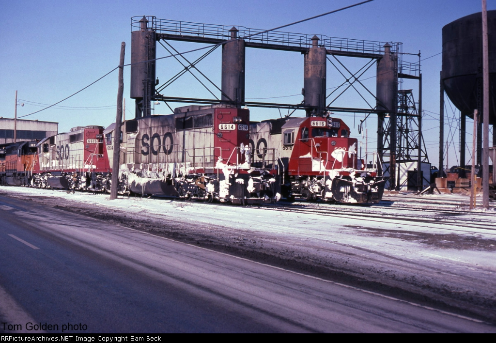 SOO 6614, 6615, and 6616 After the Snow