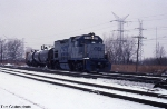 CSX 1515 in the Snow