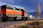 BNSF 2840 after a days work on the Cody Local
