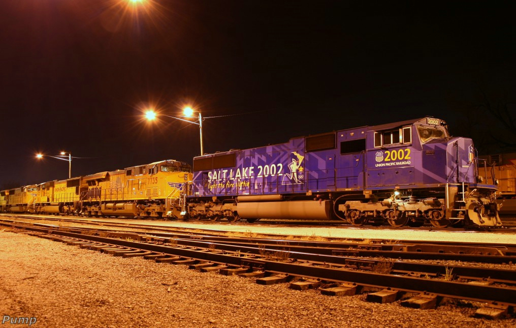 Northbound UP Manifest Train Locomotives - Salt Lake 2002 Locomotive
