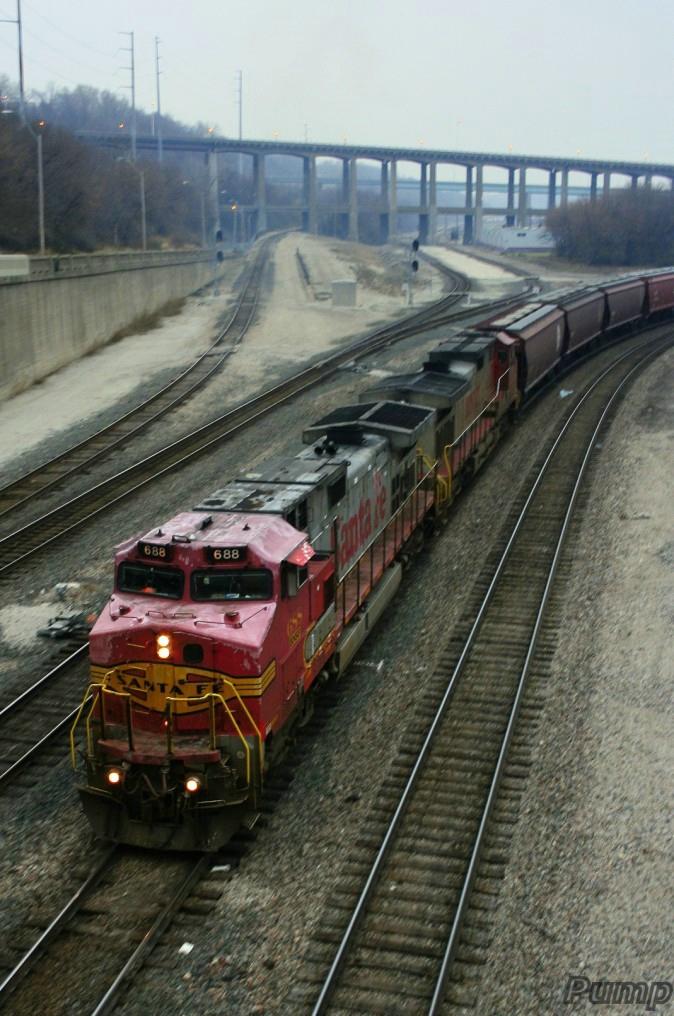 Northbound BNSF Empty Grain Train