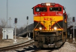 Southbound KCS Loaded Grain Train