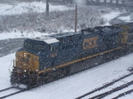 CSX 5404 in the Snow