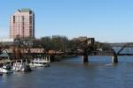NS 192 rolling across the Savannah River